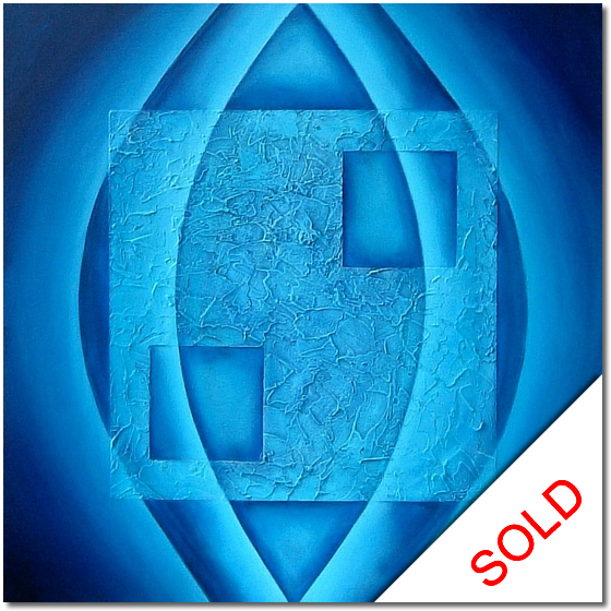Photo of Blue Relic - abstract painting for sale