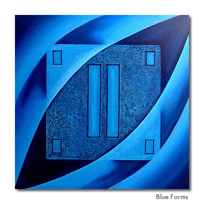 Blue Forms - Original painting for sale