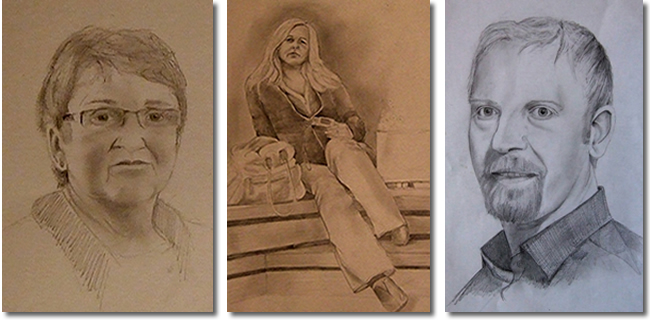 Commmission your portrait - different sized and mediums