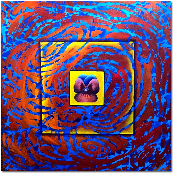Photo of Flower in Pattern 3 - abstract painting for sale